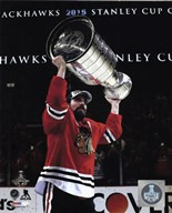 Patrick Sharp with the Stanley Cup Game 6 of the 2015 Stanley Cup Finals  Fine Art Print
