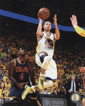 Framed Stephen Curry Game 1 of the 2015 NBA Finals Print