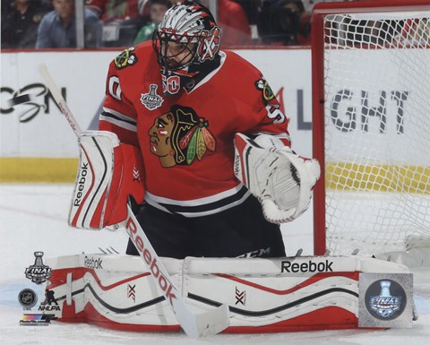 Framed Corey Crawford Game 3 of the 2015 Stanley Cup Finals Print