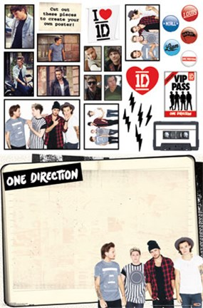 Framed 1D - Collage Print
