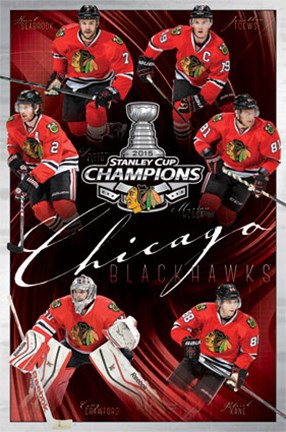 Framed 2015 Stanley Cup - Champs Print
