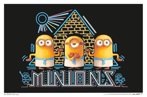 Framed Black Light - Minions Print