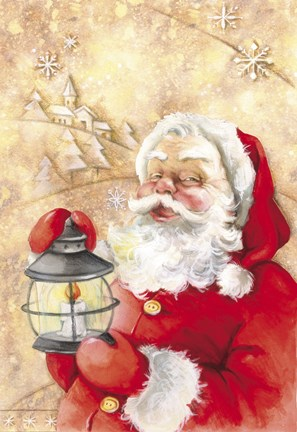 Santa S Light Fine Art Print By Dbk Art Licensing At