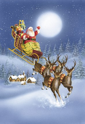 Santa S Landing Fine Art Print By Dbk Art Licensing At
