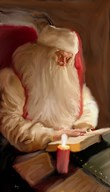 Santa's Tale By Candelight  Fine Art Print