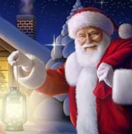 Santa's Greeting Light  Fine Art Print