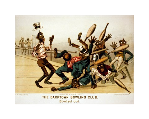 Framed Darktown Bowling Club: Bowled Out Print