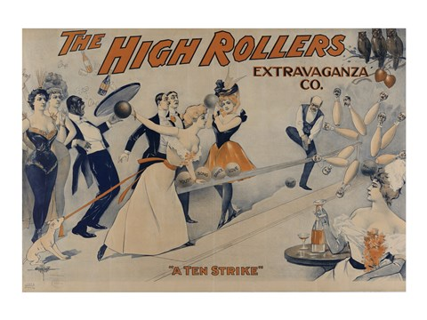 Framed High Rollers Extravaganza Co. Print