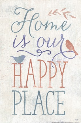 Framed Home is Our Happy Place Print