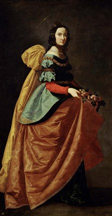Framed Saint Casilda, 1640 Print