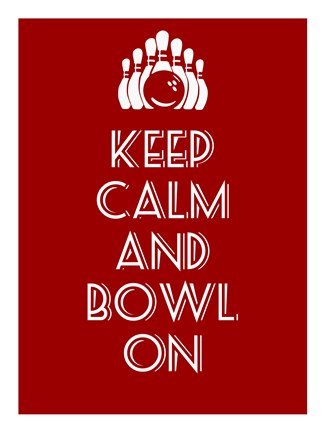 Framed Keep Calm and Bowl On Print