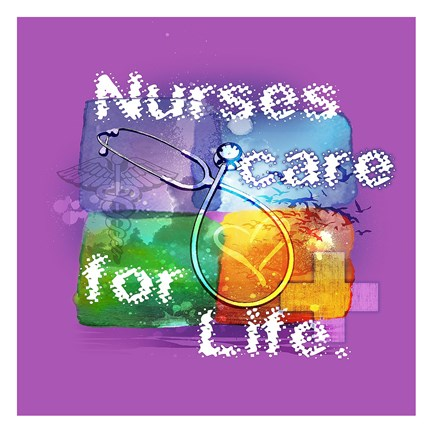 Framed Nurses Care Print