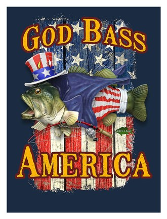 Framed God Bass America Print