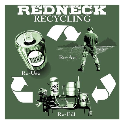 Framed Redneck Recycling Print