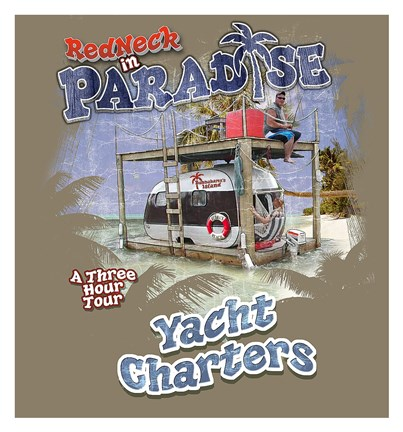 Framed Redneck Yacht Charters Print