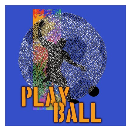 Framed Play Ball Soccer Print