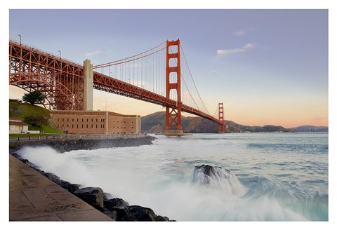 Framed Golden Gate Bridge at Dawn Print