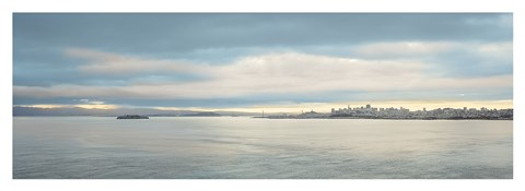 Framed Morning Vista across the Bay Print