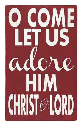 Framed Let Us Adore Him Print