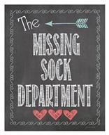 Missing Sock Dept.  Fine Art Print