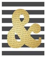 Faux Gold Ampersand  Fine Art Print