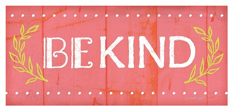 Framed Be Kind Print