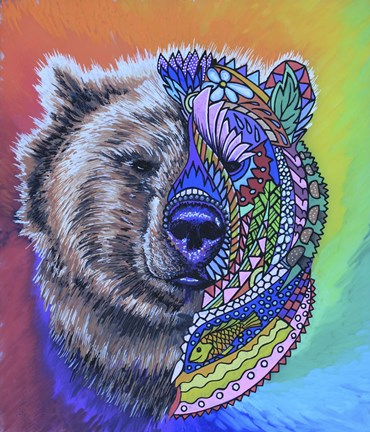 Framed Animals Of Pride - Bear Print