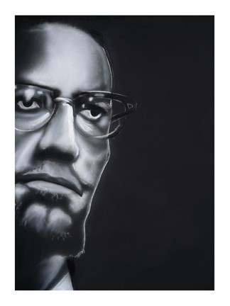 Framed Portrait of Malcolm X Print