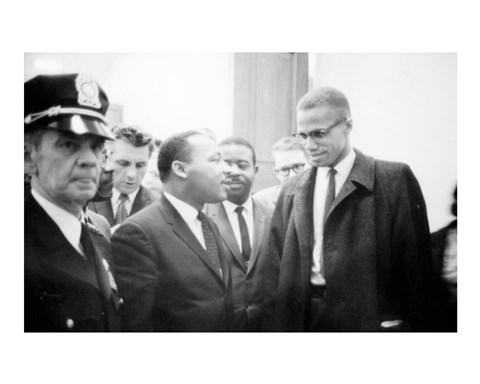 Framed Martin Luther King and Malcolm X Print