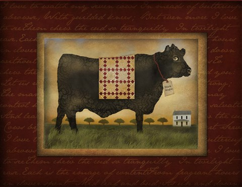 Framed Black Angus Print