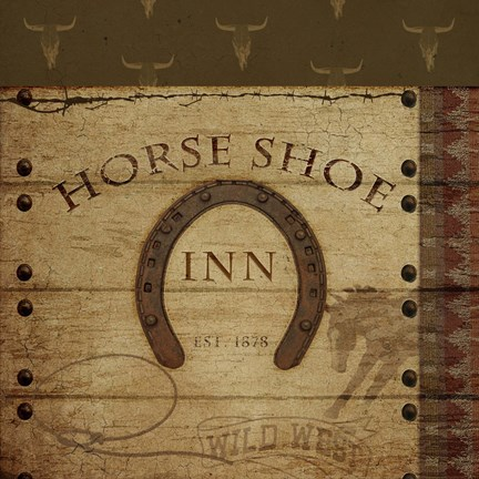 Framed Horses Shoe Inn Print