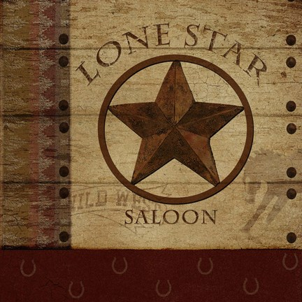 Framed Lone Star Saloon Print