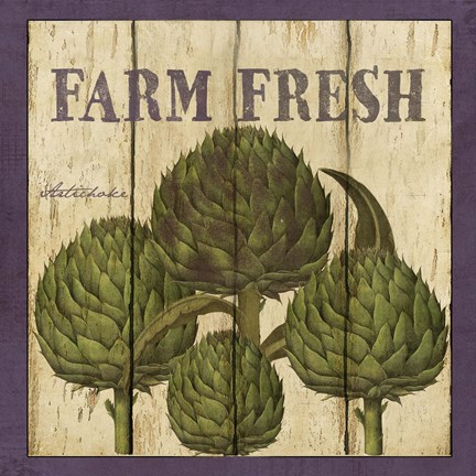 Framed Farm Fresh Artichoke Print