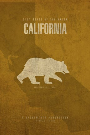 Framed California Poster Print