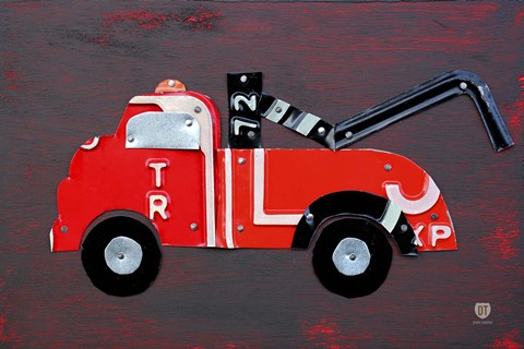 Framed Tow Truck Print