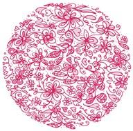 Pink Flower Circle  Fine Art Print