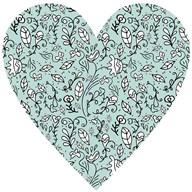 Blue Flower Heart  Fine Art Print