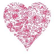 Pink Flower Love Heart  Fine Art Print