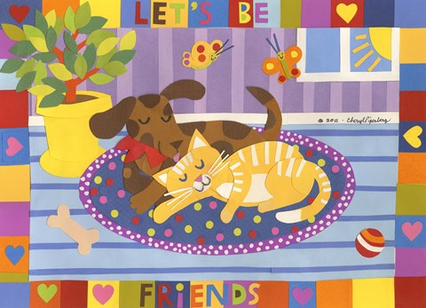 Framed Let's Be Friends Print