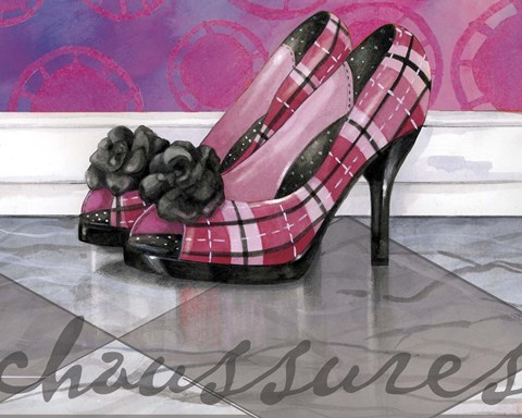 Framed Plaid Heels Print