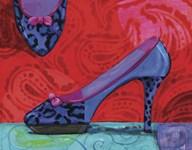 Shoe Blue Leopard  Fine Art Print