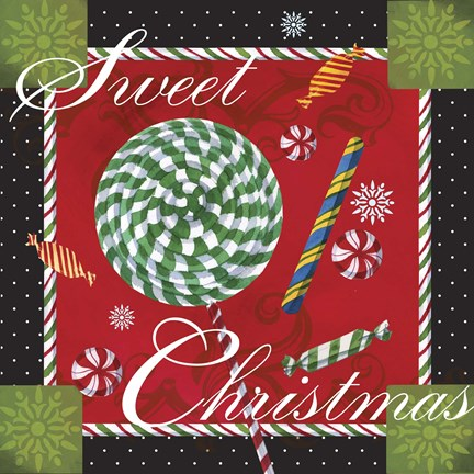 Framed Sweet Christmas I Print