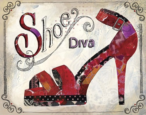 Framed Shoe Diva Print