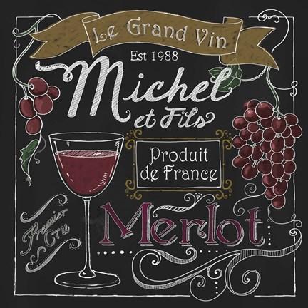 Wine chalkboard i fine art print by fiona stokes gilbert for Wine chalkboard art