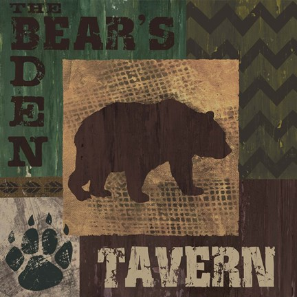 Framed Bear's Den Tavern Print