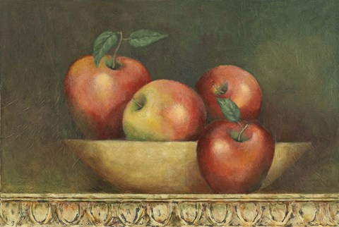Framed Red Apple Still Life Print