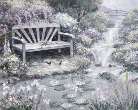 Framed Park Bench Print