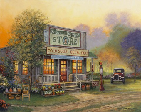 Framed Old Country Store Print