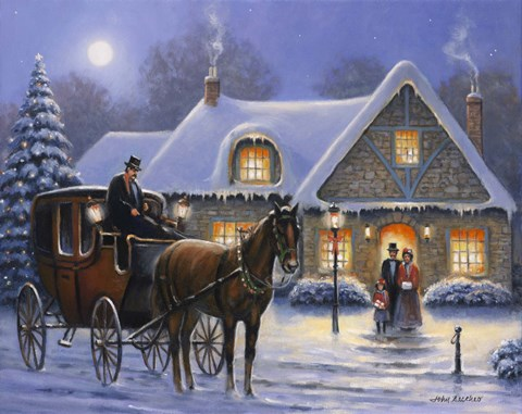 Christmas Eve Fine Art Print By John Zaccheo At
