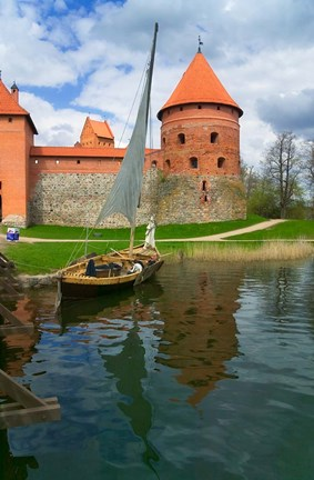 Framed Island Castle by Lake Galve, Trakai, Lithuania I Print